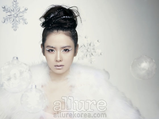 Son Ye Jin is Allure Snow Queen