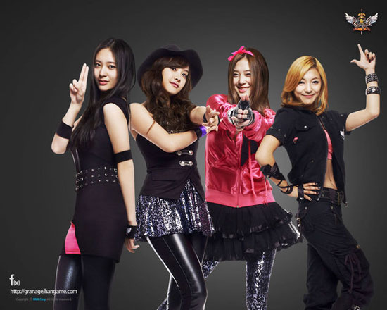Girl Group f(x) for Hangame Online Games » AsianCeleb