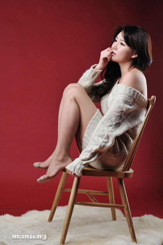 Han Ga Eun – Ivory Sweater Dress » AsianCeleb