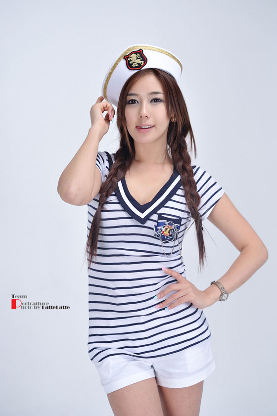 Model Kim Ha Yul in sailor uniform » AsianCeleb