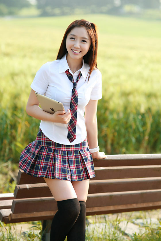 Korean school girl Kim Ha Eum