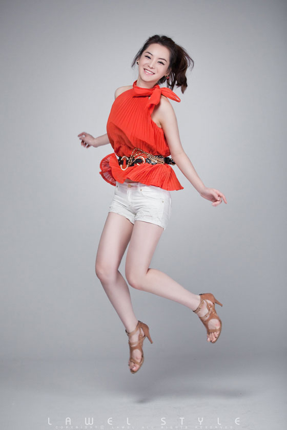 Im Ji Hye orange dress