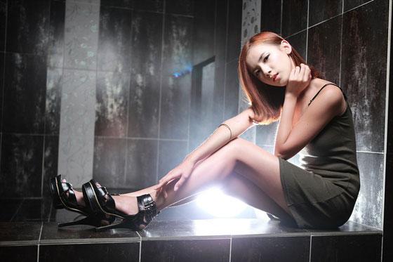 Lee Mi Hyun green mini dress