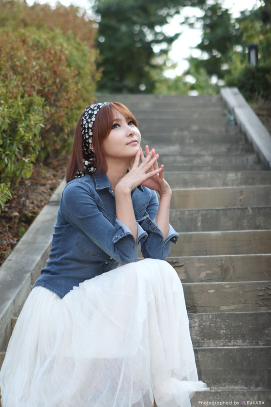 Model Jang Jung Eun outdoor photoshoot » AsianCeleb