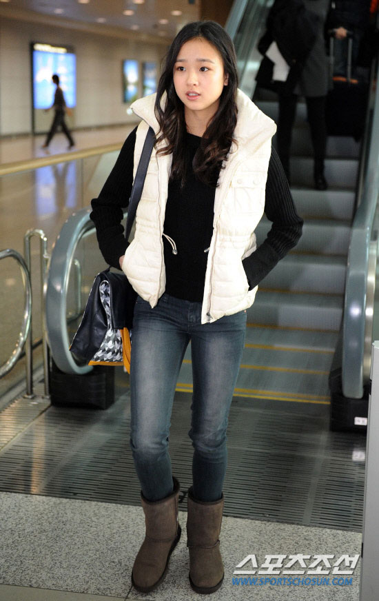 Korean gymnast Son Yeon Jae Incheon Airport
