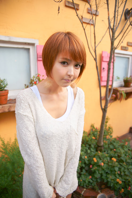 Kang Yui short hair