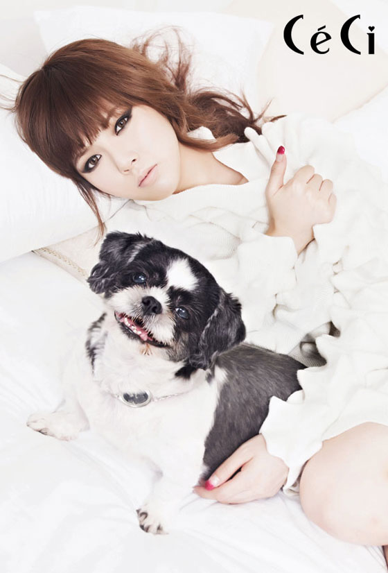 Korean Girl Group 4minute Ceci & Puppies » AsianCelebrity