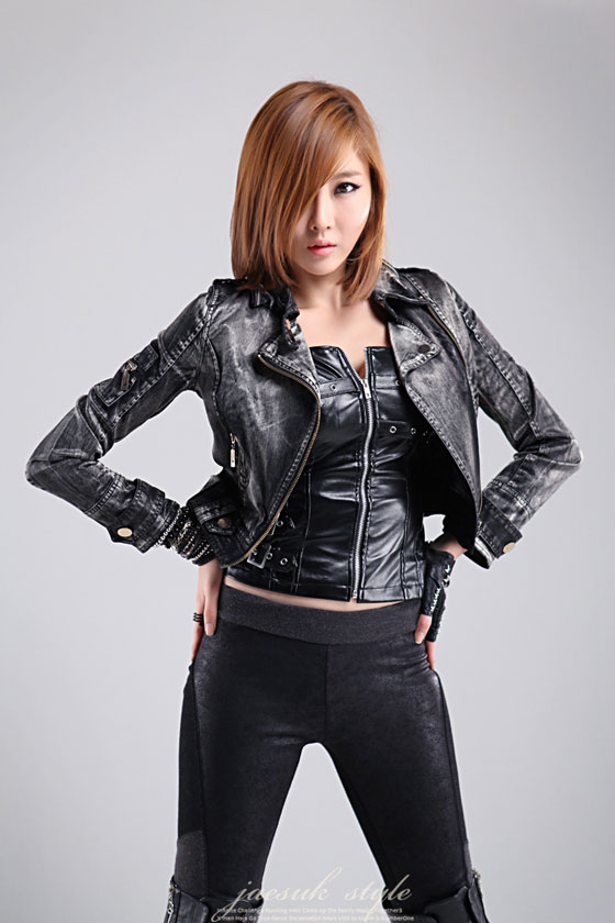 Model Choi Byul I studio photoshoot with a rocker style » AsianCeleb