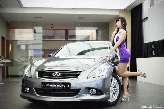 Cute Model Hwang Mi Hee at Infiniti G Racing » AsianCeleb