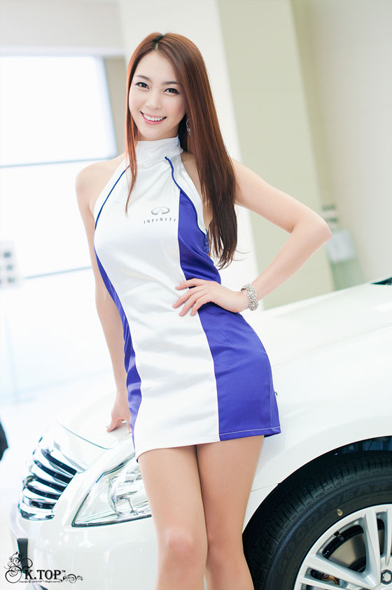 Korean model Ju Da Ha at a promo event for Infiniti G25R racing car » AsianCeleb