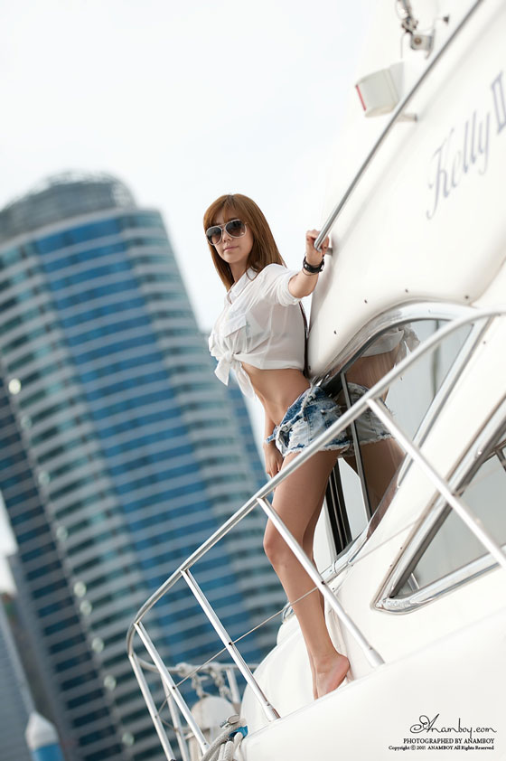 Korean Model Kim Ha Yul Goes Sailing » AsianCelebrity