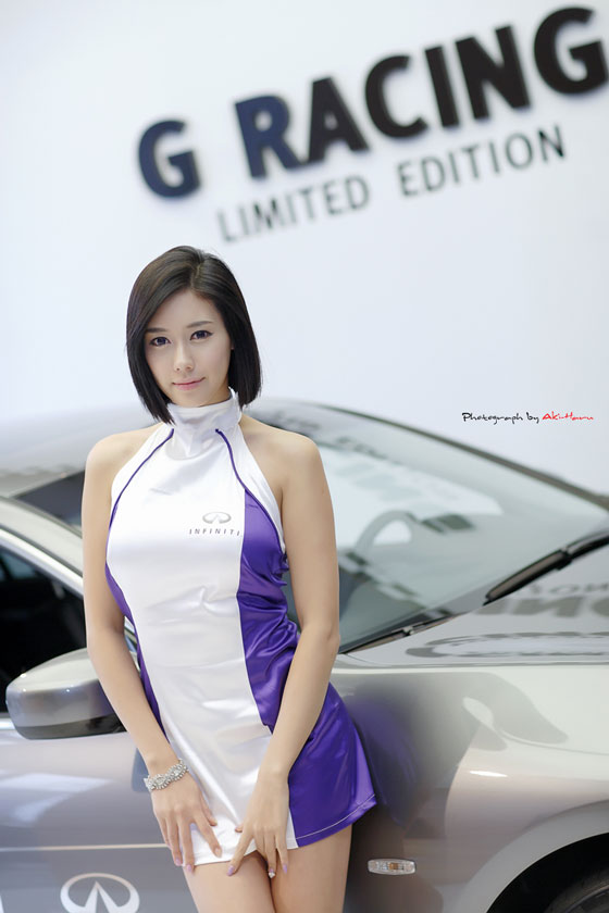 Korean Model Kim Ha Yul Infiniti G Racing » AsianCelebrity