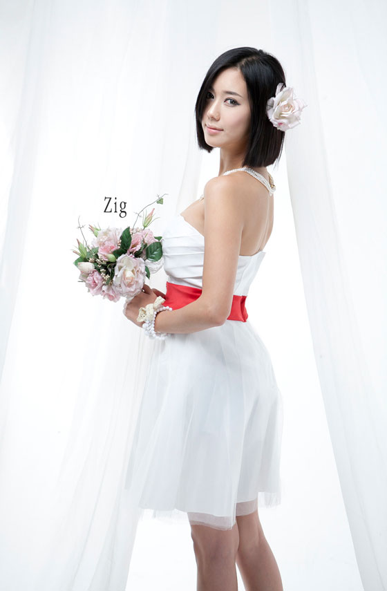 Kim Ha Yul white dress