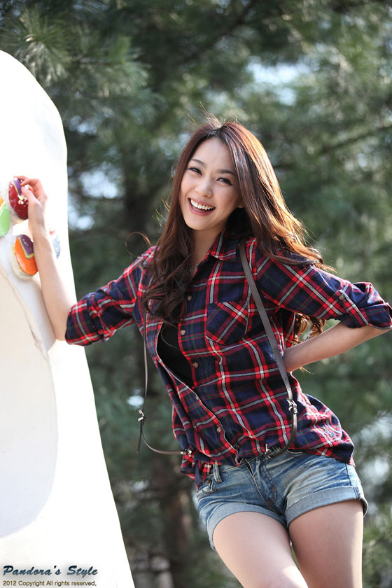 Korean model Ju Da Ha outdoor