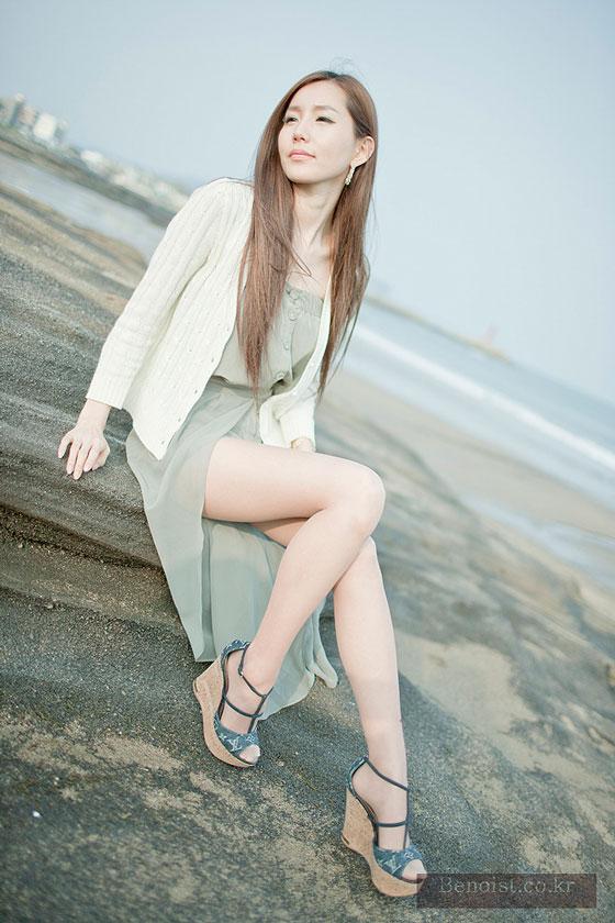 Korean model Lee Ji Min