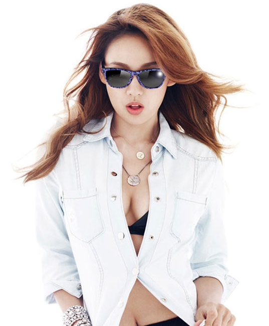 Lee Hyori Vogue magazine Oakley sunglasses