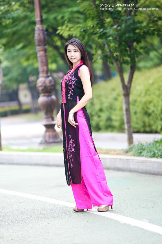 Kim Ha Eum Vietnamese ao dai