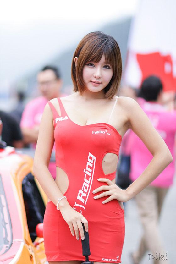 Ryu Ji Hye CJ Super Race 2012