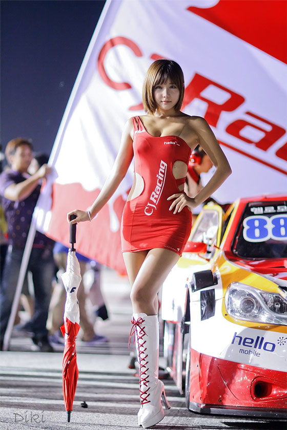 Ryu Ji Hye CJ Super Race 2012