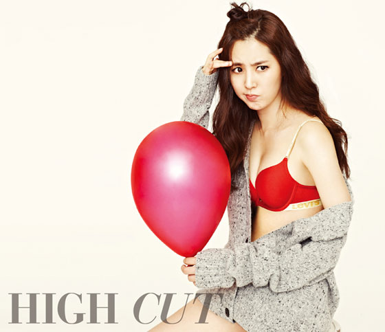 Han Chae Ah High Cut Levis Bodywear