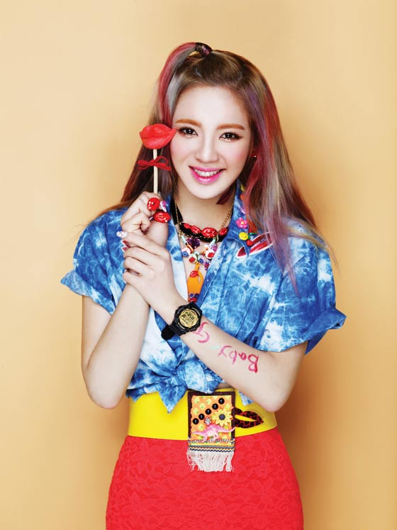 Girls Generation Hyoyeon Baby G watches