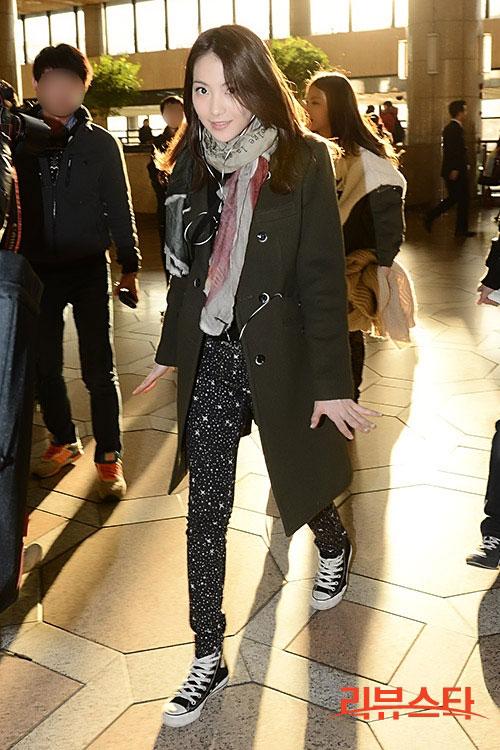 KARA Jiyoung airport fashion