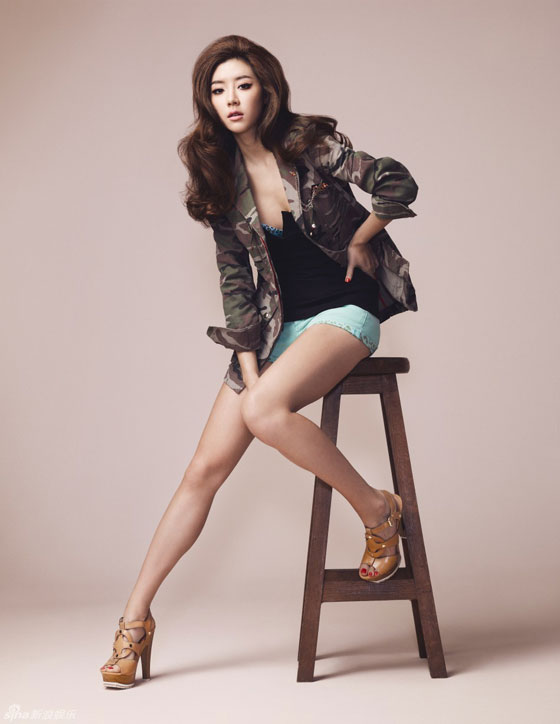 Park Han Byul W Magazine Guess apparel
