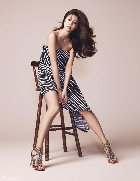 Park Han Byul W Magazine Guess apparel