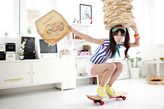 Korean pizza girl Park Hyun Sun