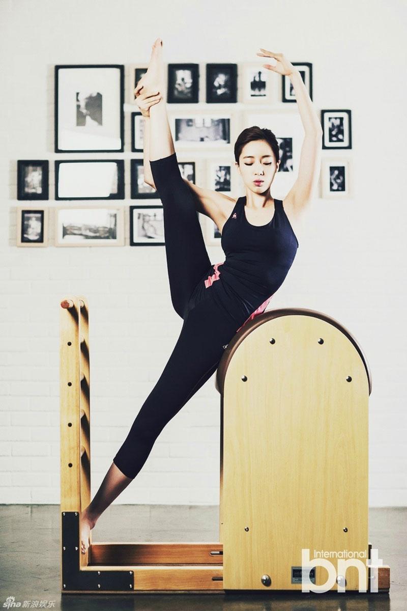 T-ara Eunjung getting fit in the gym